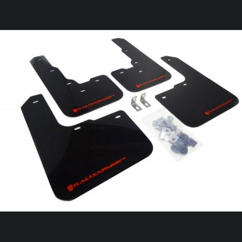 Dodge Dart Mud Flaps - Rally Armor - Black w/ Red Logo