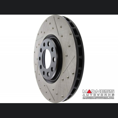 Dodge Dart Performance Brake Rotor - StopTech - Drilled + Slotted - Front Left