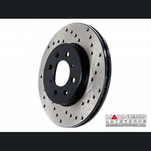 Dodge Dart Performance Brake Rotor - Drilled + Vented - Front Right