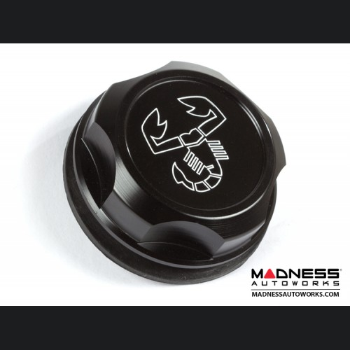 Dodge Dart Oil Cap - Scorpion Logo - Black Anodized Billet