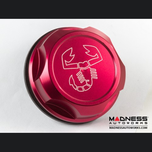 Dodge Dart Oil Cap - Scorpion Logo - Red Anodized Billet